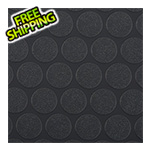 G-Floor 7.5' x 17' Small Coin Roll-Out Garage Floor (Black)
