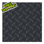 G-Floor 7.5' x 17' Diamond Tread Garage Floor Roll (Black)