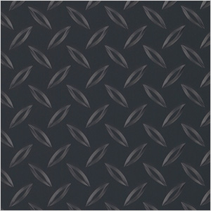 7.5' x 17' Diamond Tread Garage Floor Roll (Black)