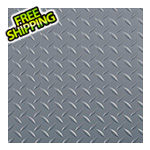 G-Floor 7.5' x 17' Diamond Tread Garage Floor Roll (Grey)