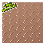 G-Floor 7.5' x 17' Diamond Tread Garage Floor Roll (Sandstone)