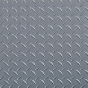 10' x 24' Diamond Tread Garage Floor Roll (Grey)