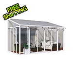 Palram SanRemo 10' x 14' Patio Enclosure with Screen Doors (White)