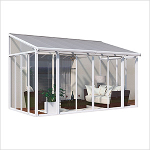 SanRemo 10' x 14' Patio Enclosure with Screen Doors (White)
