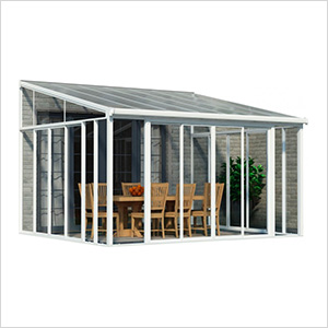 SanRemo 13' x 14' Patio Enclosure with Screen Doors (White)