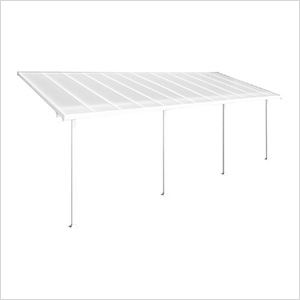 Feria 10' x 24' Patio Cover (White)