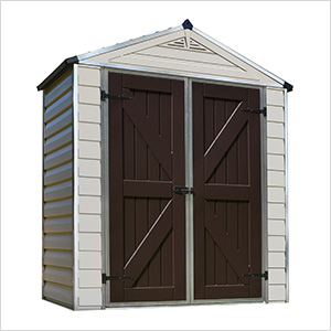 SkyLight 6' x 3' Storage Shed (Tan)
