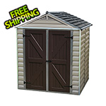 Palram SkyLight 6' x 5' Storage Shed (Tan)