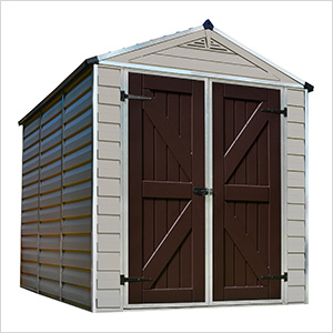 SkyLight 6' x 8' Storage Shed (Tan)