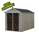 Palram SkyLight 6' x 10' Storage Shed (Tan)