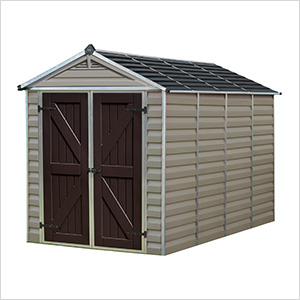 SkyLight 6' x 10' Storage Shed (Tan)