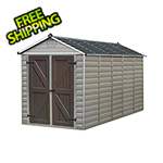 Palram SkyLight 6' x 12' Storage Shed (Tan)