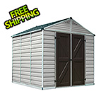 Palram SkyLight 8' x 8' Storage Shed (Tan)