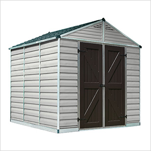SkyLight 8' x 8' Storage Shed (Tan)