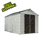 Palram SkyLight 8' x 12' Storage Shed (Tan)