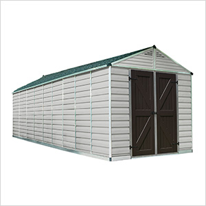 SkyLight 8' x 20' Storage Shed (Tan)