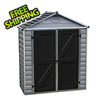 Palram SkyLight 6' x 3' Storage Shed (Grey)