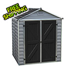 Palram SkyLight 6' x 5' Storage Shed (Grey)