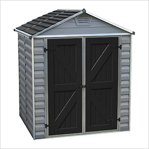 SkyLight 6' x 5' Storage Shed (Grey)