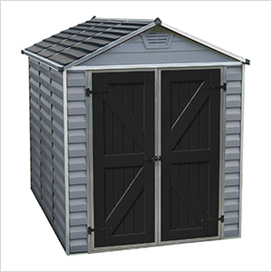 SkyLight 6' x 8' Storage Shed (Grey)