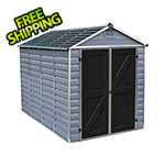 Palram SkyLight 6' x 10' Storage Shed (Grey)