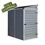 Palram-Canopia SkyLight 4' x 6' Lean-To Storage Shed (Grey)