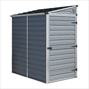 SkyLight 4' x 6' Lean-To Storage Shed (Grey)