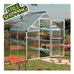 Palram Mythos 6' x 4' Hobby Greenhouse (Silver)