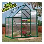 Palram Mythos 6' x 4' Hobby Greenhouse (Green)