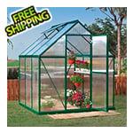 Palram Mythos 6' x 6' Hobby Greenhouse (Green)