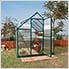 Mythos 6' x 6' Hobby Greenhouse (Green)