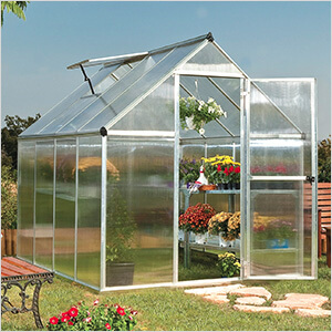 Mythos 6' x 8' Hobby Greenhouse (Silver)
