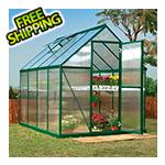 Palram Mythos 6' x 8' Hobby Greenhouse (Green)