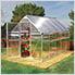 Mythos 6' x 14' Hobby Greenhouse (Silver)