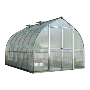 Bella 8' x 12' Hobby Greenhouse Kit (Silver)
