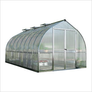 Bella 8' x 16' Hobby Greenhouse Kit (Silver)