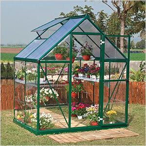 Hybrid 6' x 4' Greenhouse (Green)