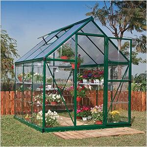 Hybrid 6' x 8' Greenhouse (Green)