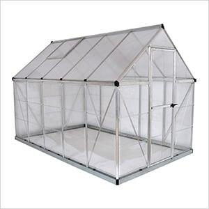 Hybrid 6' x 10' Greenhouse (Silver)