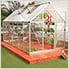 Hybrid 6' x 14' Greenhouse (Silver)