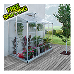 Palram-Canopia Hybrid Lean-To 4' x 8' Greenhouse (Silver)