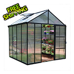 Palram Glory 8' x 8' Greenhouse Kit (Grey)