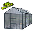 Palram-Canopia Glory 8' x 20' Greenhouse Kit (Grey)
