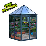 Palram Oasis 8' x 7' Hexagonal Greenhouse