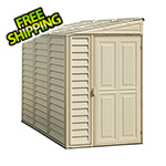 DuraMax Sidemate 4' x 8' Vinyl Shed with Foundation