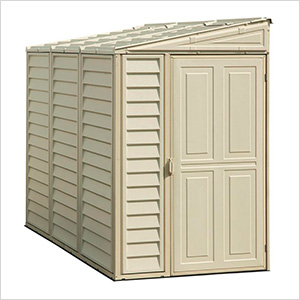 Sidemate 4' x 8' Vinyl Shed with Foundation