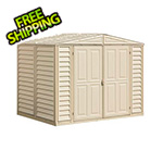 DuraMax DuraMate 8' x 5.5' Vinyl Storage Shed with Foundation