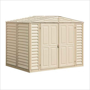 DuraMate 8' x 5.5' Vinyl Storage Shed with Foundation