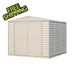 DuraMax DuraMate 8' x 8' Vinyl Storage Shed with Foundation
