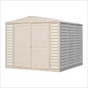DuraMate 8' x 8' Vinyl Storage Shed with Foundation